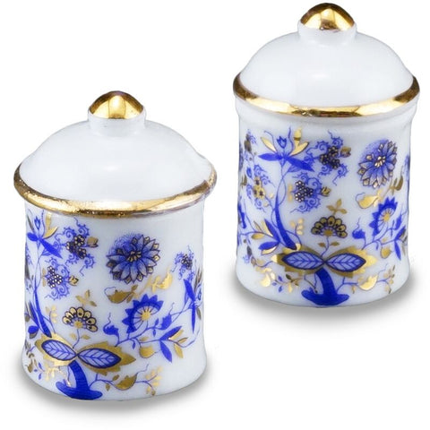 Blue Onion Large Canister Set