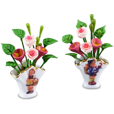 M.I. Hummel Flower Vase Set