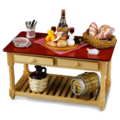 Wine & Cheese Serving Table