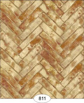 Herringbone Brick Paper, Blush