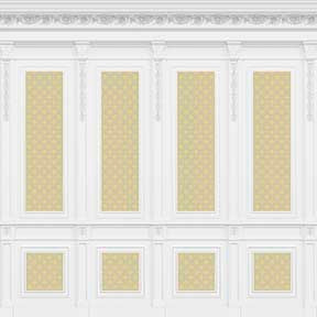 French Wall Panel Boiserie, Yellow