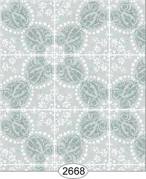 Rose Hill Tile Blue Aqua