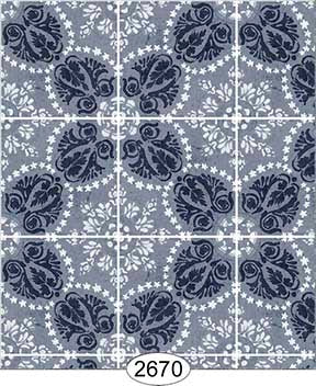 Rose Hill Tile Blue Navy