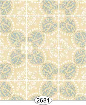 Rose Hill Tile Blue on Cream