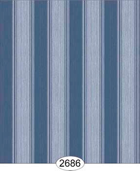 Wallpaper Rose Hill Stripe Blue Navy