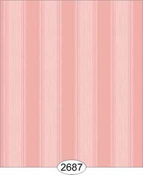 Wallpaper Rose Hill Stripe Orange Peach