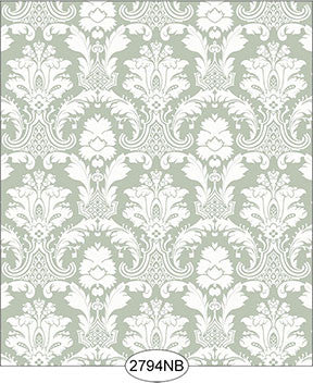 Wallpaper - Daniella Damask, Olive
