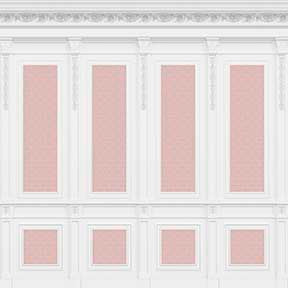French Wall Panel Boiserie, Pink