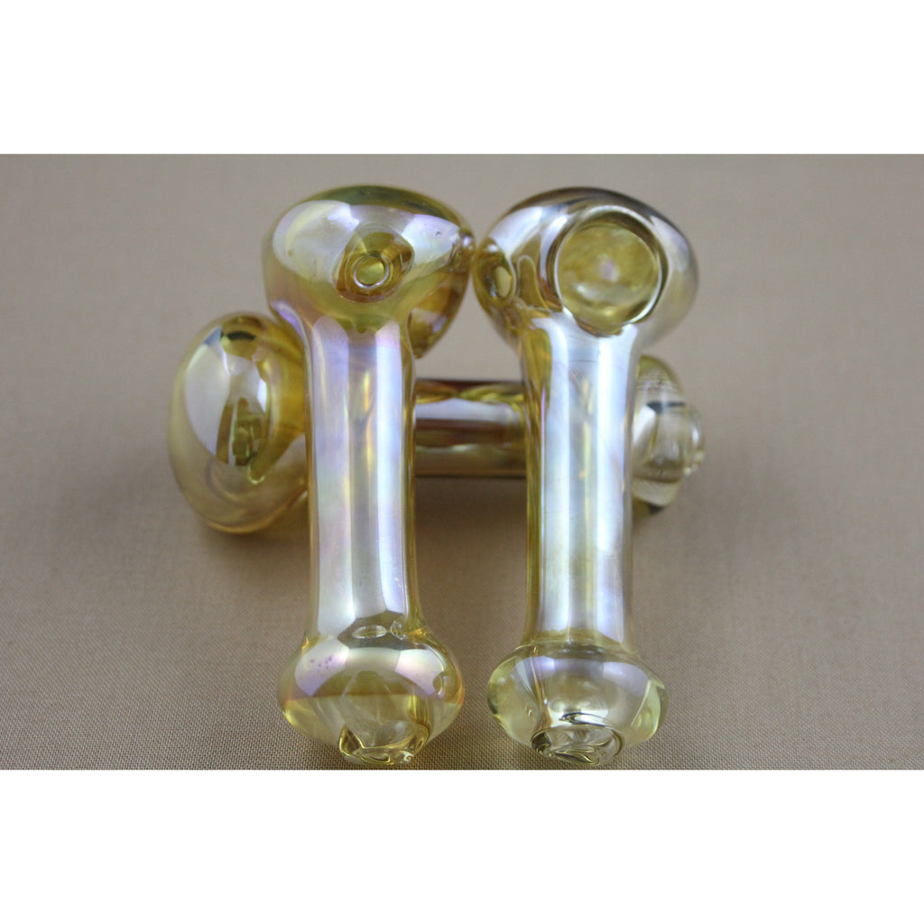 "3"" Gold Shiny Pipes - Smokes Pros"