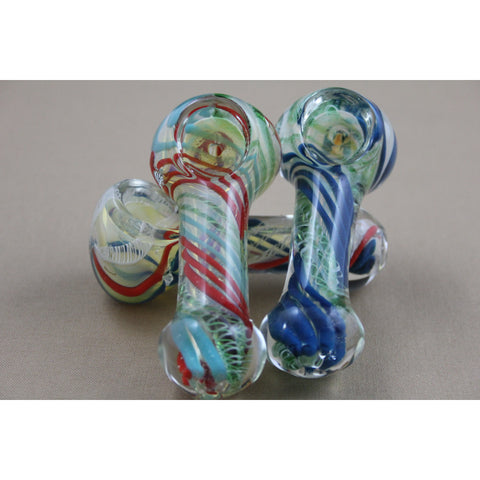 "3"" Net Design Swirl Color Pipes - Smokes Pros"