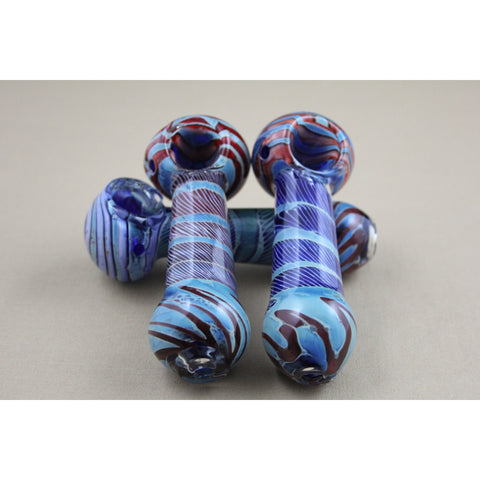 "4"" Colorful Double Tube Pipes - Smokes Pros"