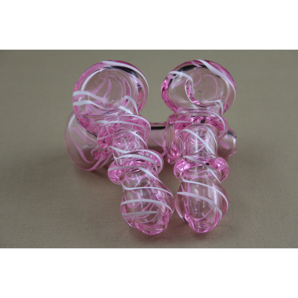 "4"" Pink Tube Pipes - Smokes Pros"