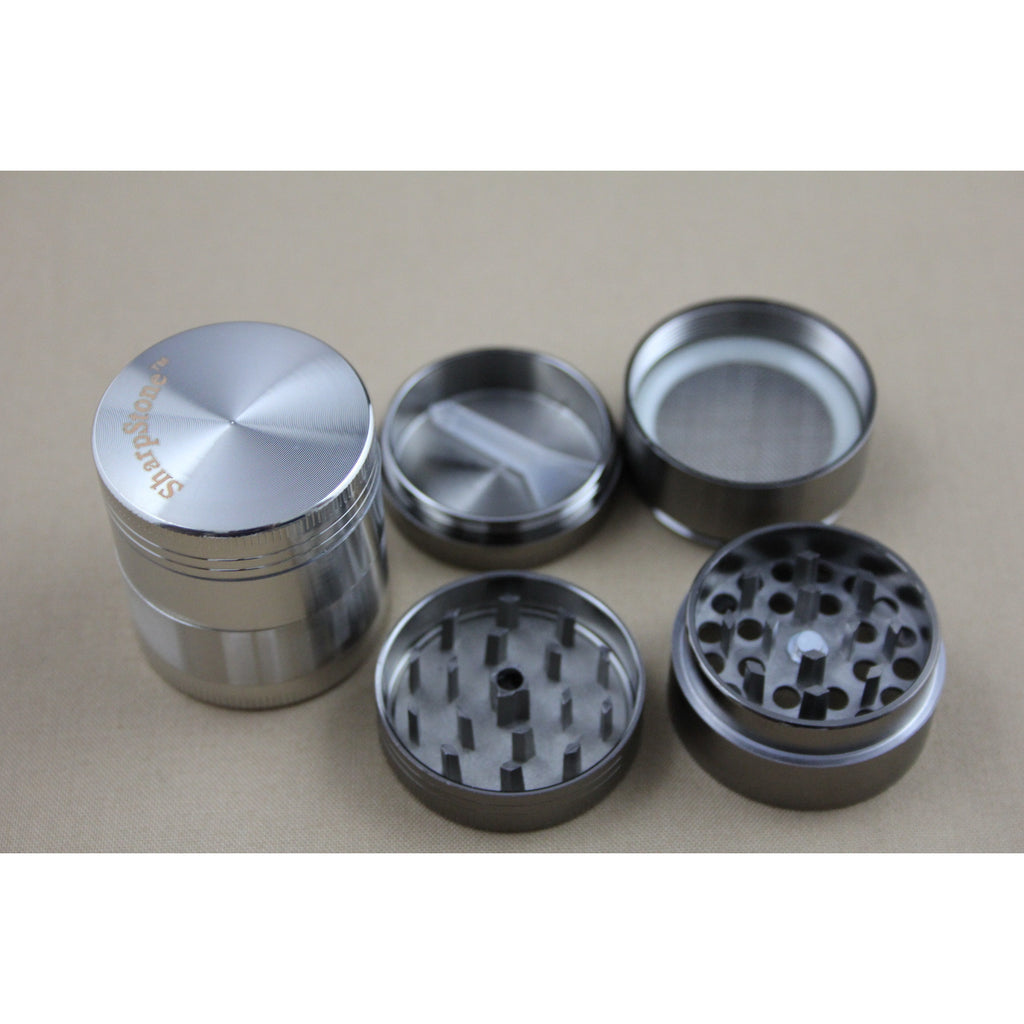 HS 40MM Sharpstone Four Parts Zinc Grinder - Smokes Pros