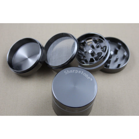 HS 55 MM Sharpstone Four Parts Metal Grinder - Smokes Pros
