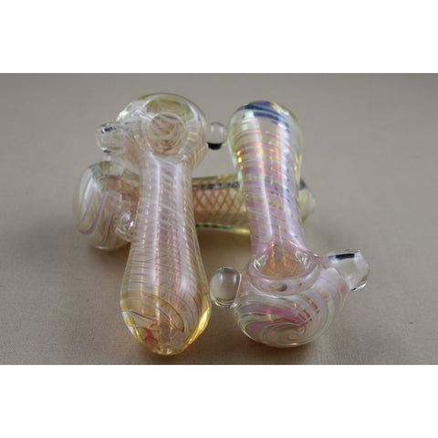 "4"" Gold Fume Marble Pipes - Smokes Pros"