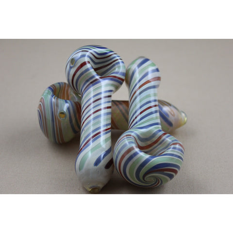 "4"" Color Swirl Fume Pipes - Smokes Pros"