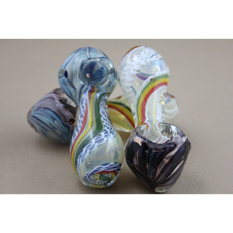 "4"" Twist Rasta Art Pipes - Smokes Pros"