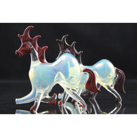 Horse Design Silver Fume Pipes - Smokes Pros