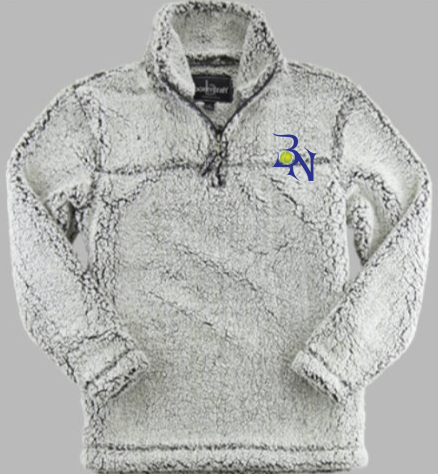 BN Tennis Ladies Sherpa 1/4 Zip Pullover Frosty Gray