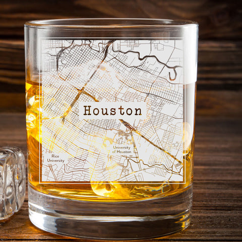 College Town Etched Map Whiskey Glasses The Gift Store