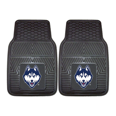Connecticut Huskies Ncaa Heavy Duty 2-piece Vinyl Car Mats (18x27)