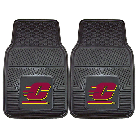 Central Michigan Chippewas Ncaa Heavy Duty 2-piece Vinyl Car Mats (18x27)