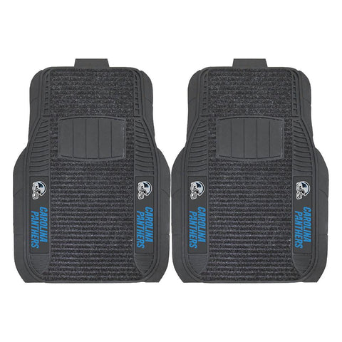 Carolina Panthers Nfl Deluxe 2-piece Vinyl Car Mats (20x27)