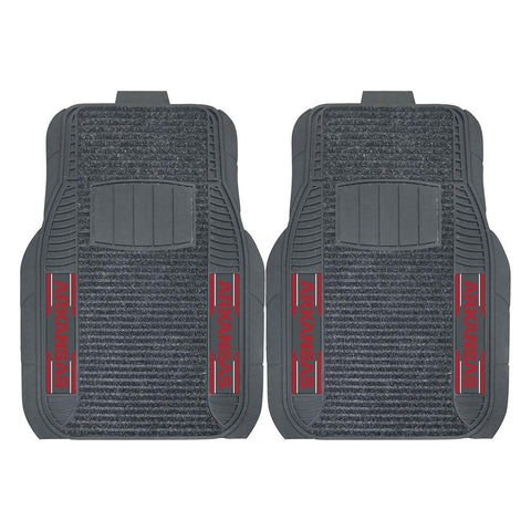 Arkansas Razorbacks Ncaa Deluxe 2-piece Vinyl Car Mats (20x27)