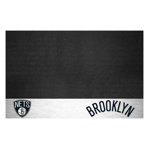 Brooklyn Nets Nba Vinyl Grill Mat(26x42)