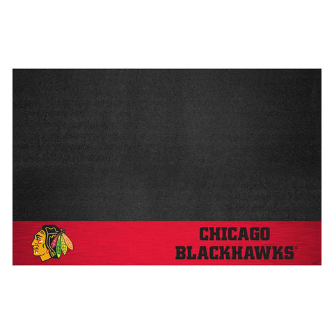 Chicago Blackhawks Nhl Vinyl Grill Mat(26x42)
