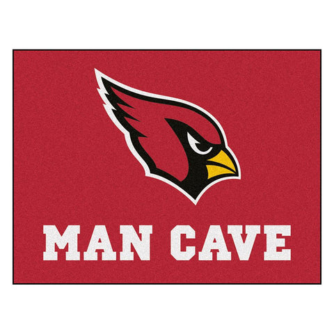 Arizona Cardinals Nfl Man Cave All-star Floor Mat (34in X 45in)