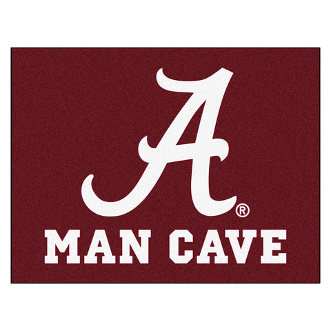Alabama Crimson Tide Ncaa Man Cave All-star Floor Mat (34in X 45in)