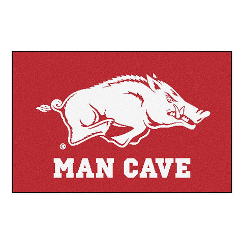 Arkansas Razorbacks Ncaa Man Cave Starter Floor Mat (20in X 30in)