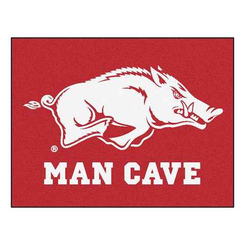 Arkansas Razorbacks Ncaa Man Cave All-star Floor Mat (34in X 45in)
