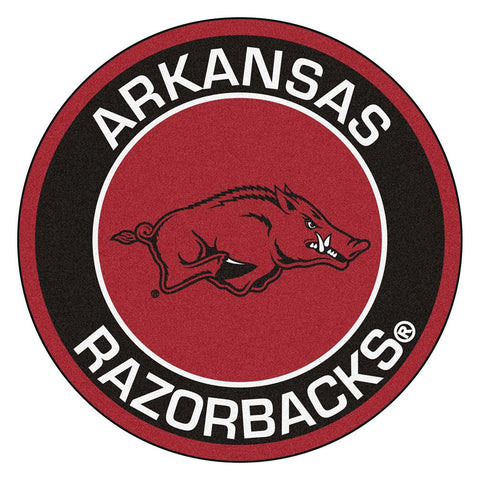 Arkansas Razorbacks Ncaa Rounded Floor Mat (29in)