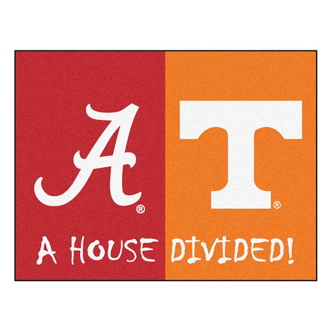 Alabama  -  Tenneessee Ncaa House Divided Nfl All-star Floor Mat (34x45)