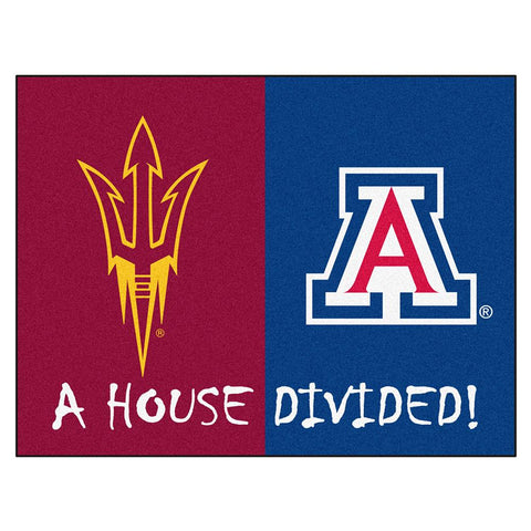 Arizona State - Arizona Ncaa House Divided Nfl All-star Floor Mat (34x45)