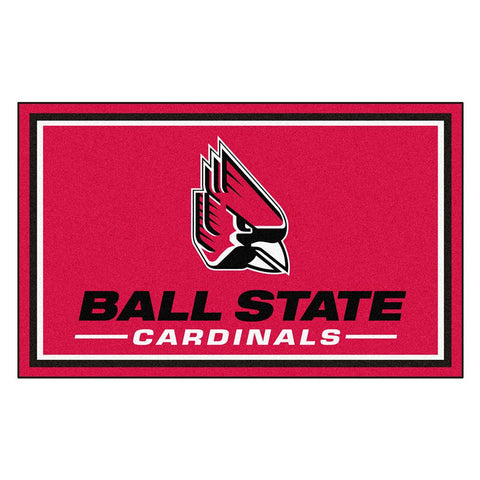Ball State Cardinals Ncaa 4x6 Rug (46x72)