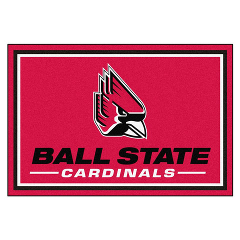 Ball State Cardinals Ncaa 5ft X 8ft  Rug