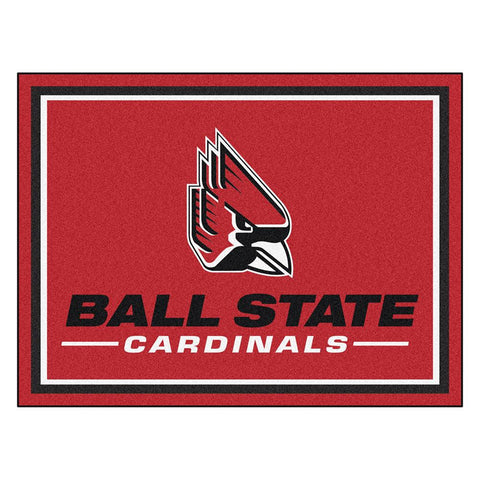 Ball State Cardinals Ncaa 8ft X10ft Area Rug