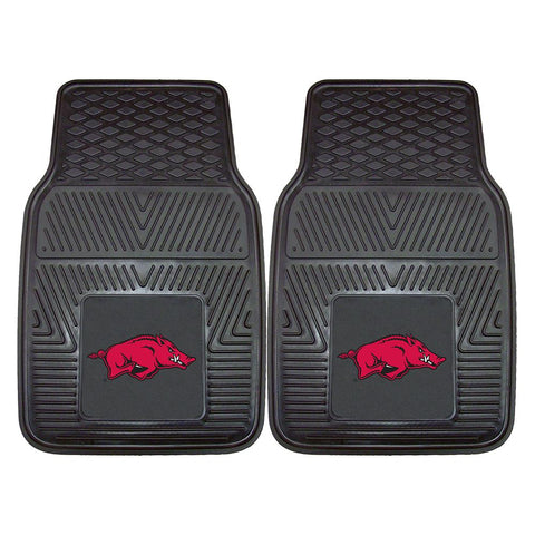 Arkansas Razorbacks Ncaa Heavy Duty 2-piece Vinyl Car Mats (18x27)