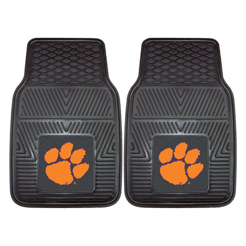 Clemson Tigers Ncaa Heavy Duty 2-piece Vinyl Car Mats (18x27)