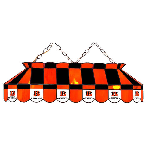 Cincinnati Bengals Nfl 40 Inch Billiards Stained Glass Lamp