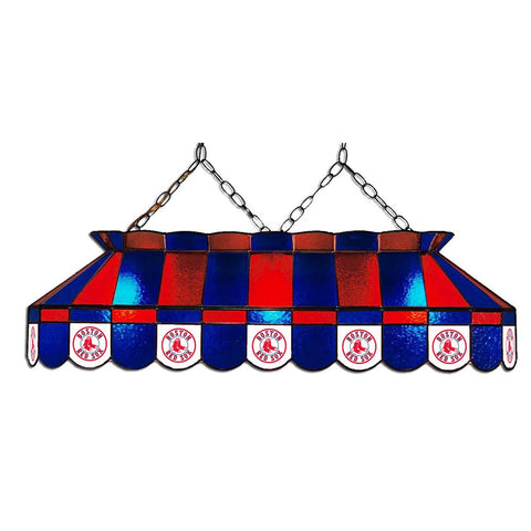 Boston Red Sox Mlb 40 Inch Billiards Stained Glass Lamp