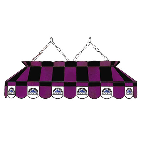 Colorado Rockies Mlb 40 Inch Billiards Stained Glass Lamp