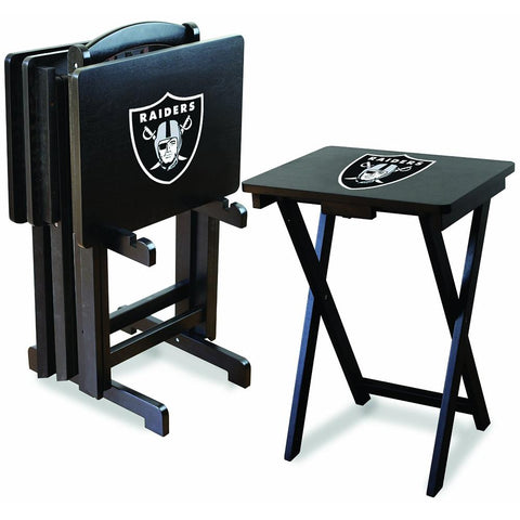 Oakland Raiders Nfl Tv Tray Set With Rack
