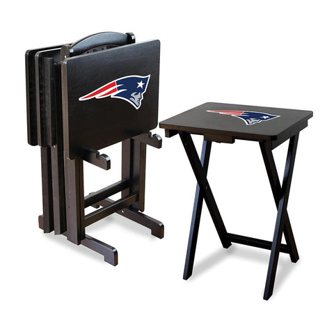 New England Patriots Nfl Tv Tray Set With Rack