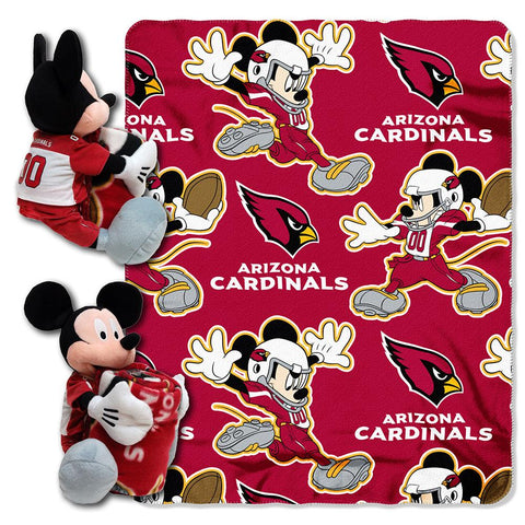 Arizona Cardinals Nfl Mickey Mouse With Throw Combo