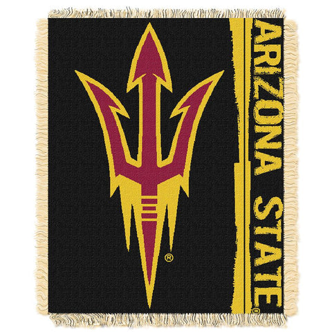 Arizona State Sun Devils Ncaa Triple Woven Jacquard Throw (double Play Series) (48x60)