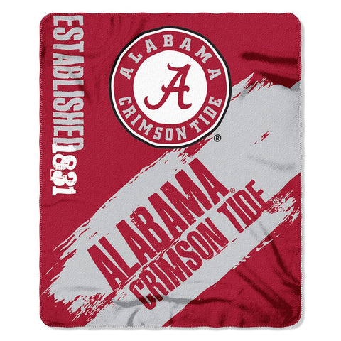 Alabama Crimson Tide Ncaa Light Weight Fleace Blanket (paint Series) (50inx60in)